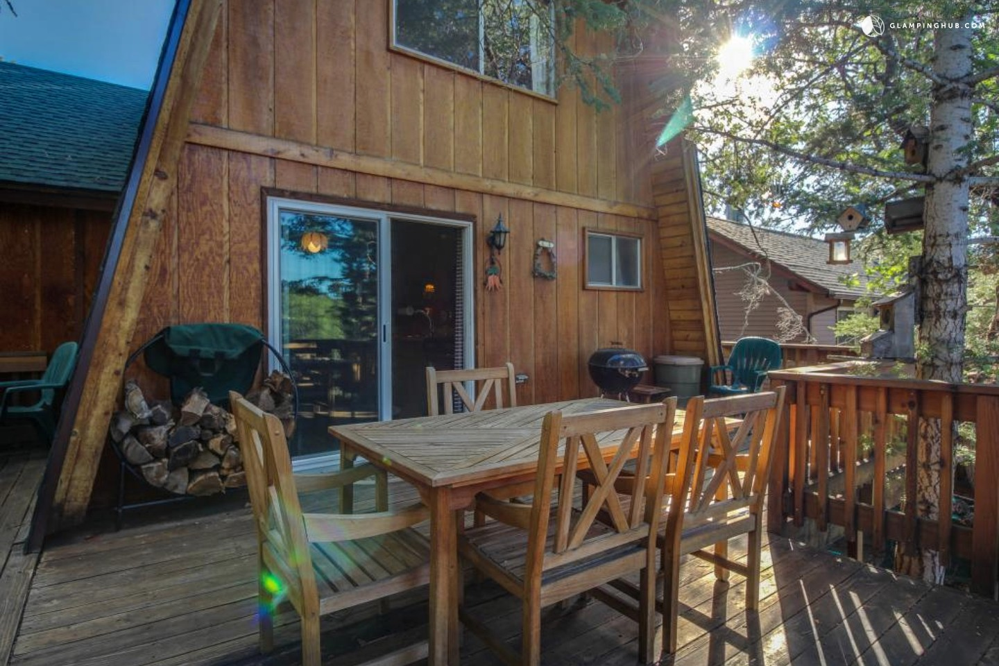 Wood cabin in big bear california for Big bear 2 person cabin