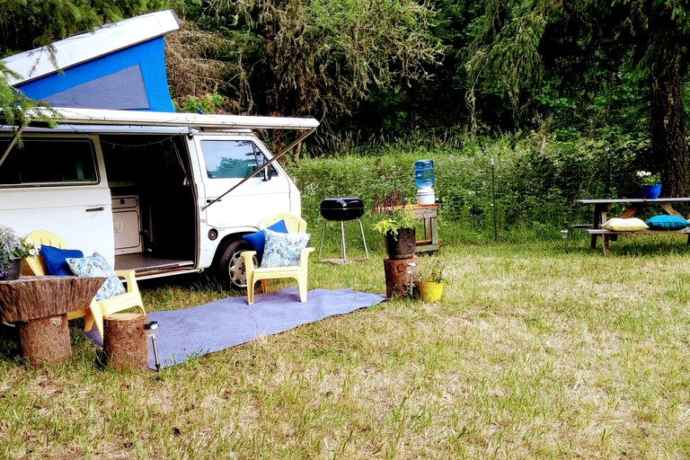 Marvelous Gorgeous Campervan Rental For A Vacation In The Woods Near Cottage Grove Oregon Interior Design Ideas Gentotryabchikinfo