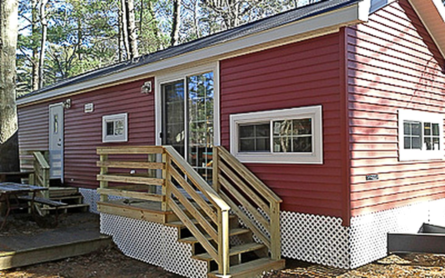 Falmouth cabins offering lakeside fishing in Cape Cod