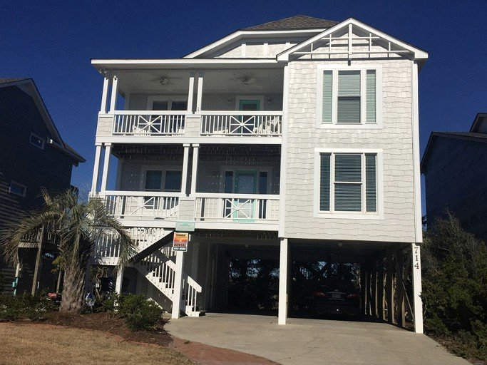 Spacious Vacation Rental with Ocean Views in Holden Beach, North Carolina
