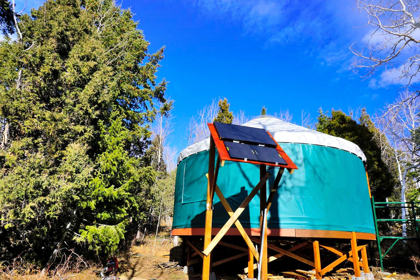 Yurts in Soldier Summit, Utah.