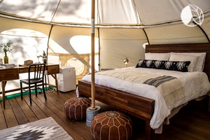 Photo of Charming Couples' Yurt Rental with Air Conditioning in Texas Hill Country