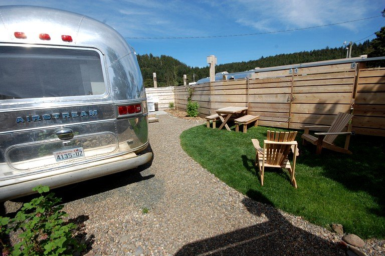 Classic Airstream Rental with Vintage Furnishings near Cape Kiwanda, Oregon