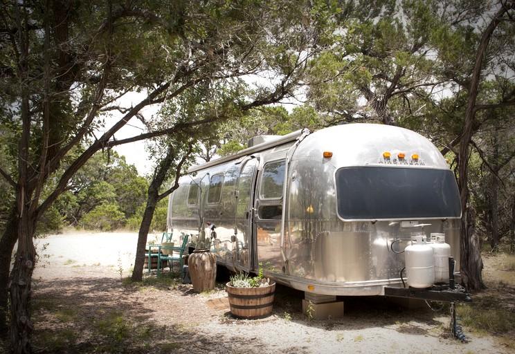 Classic Family-Friendly Airstream Rental with Modern Decor near Austin