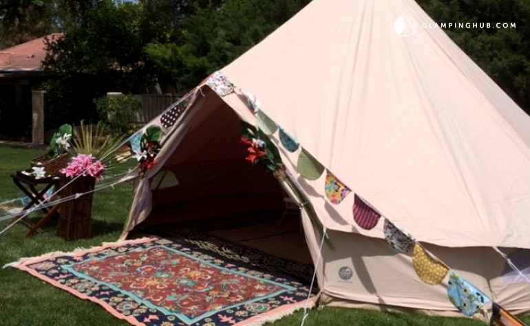 & Luxury Bell Tents in Coachella Valley