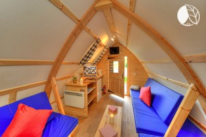 Photo of Comfy Wigwams Nestled in Quiet Secluded Woodland Area, Scotland