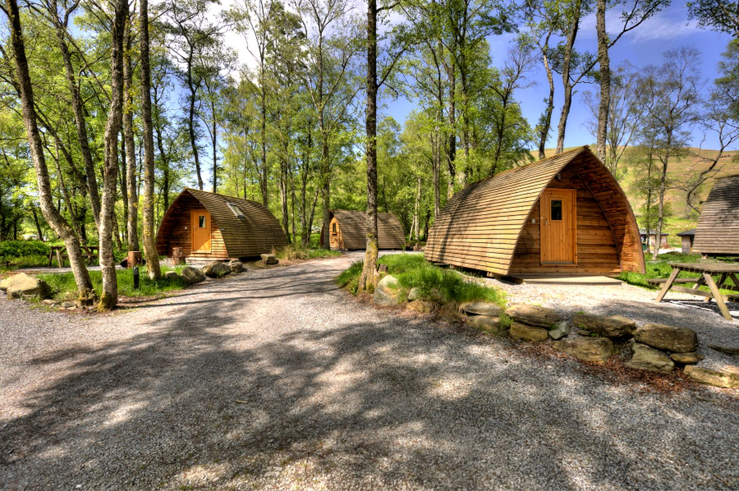 Wigwam holiday rentals for glamping in Scotland.