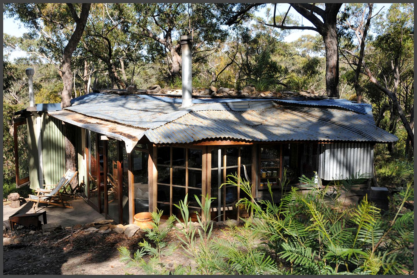 Outside of one of the top luxury cabins NSW has to offer near Bilpin