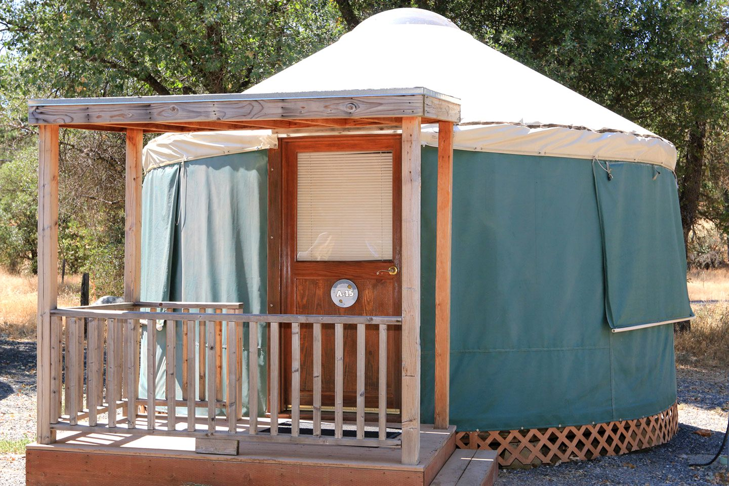 Yosemite yurts for national park camping in California.