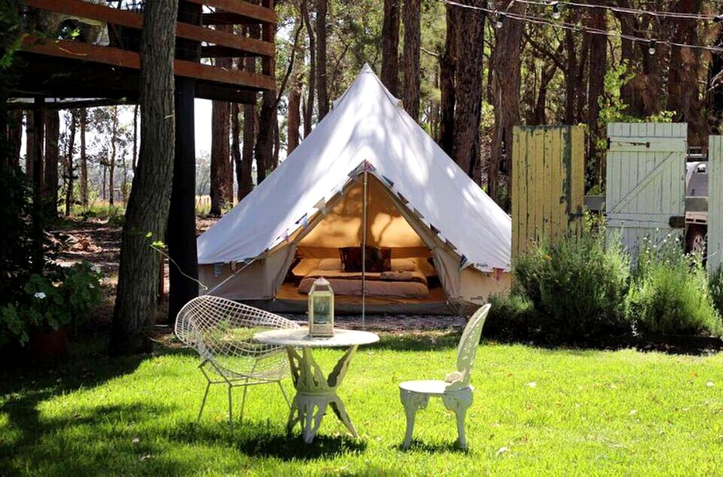Bell tents perfect for camping: Perth holidays (Yallingup, Western Australia, Australia)