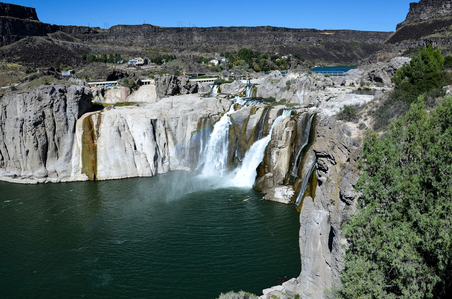 Waterfall in one of the best places for vacations in Salmon, Idaho State (United States of America)