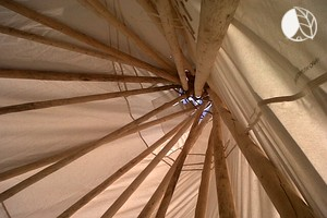 Photo of Cozy Tipi on Peaceful Secluded Island in Ontario, Canada