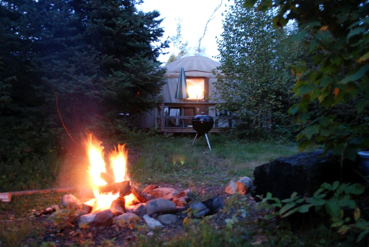 Tall Pines yurt  for rent in Minnesota