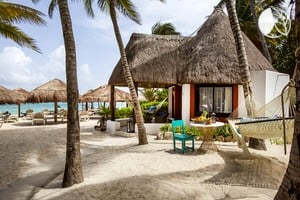 Photo of Dazzling, Oceanfront Bungalows on Playa del Carmen in the Riviera Maya, Mexico
