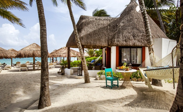 Dazzling, Oceanfront Bungalows on Playa del Carmen in the Riviera Maya, Mexico