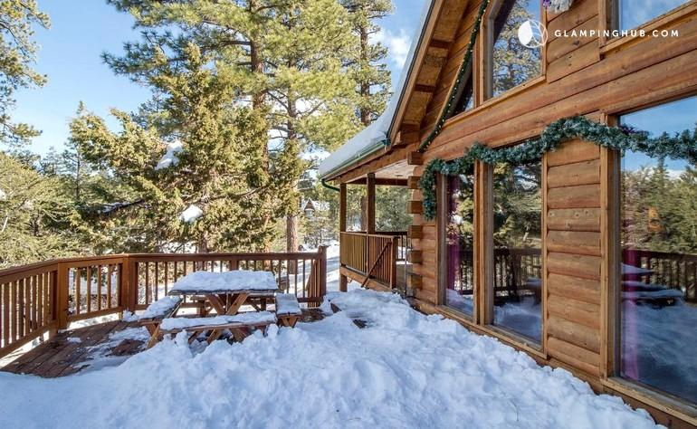 Big bear log cabin california for Log cabins in big bear