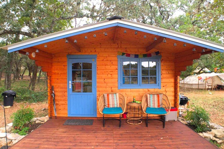 Glamping Texas Cabin And Tent Rental Glamping Near San