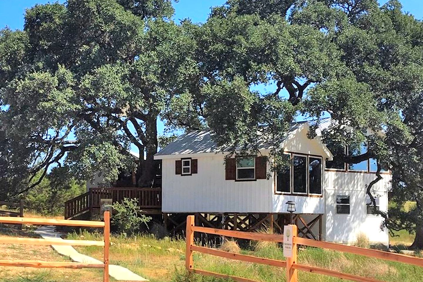 This delightful Dripping Springs rental is great fro glamping in Texas.