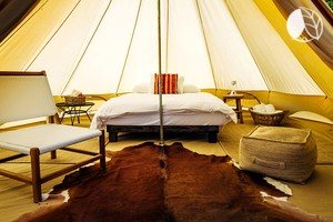 Photo of Deluxe Bell Tent Rentals at Glamping Site with Pool near San Francisco