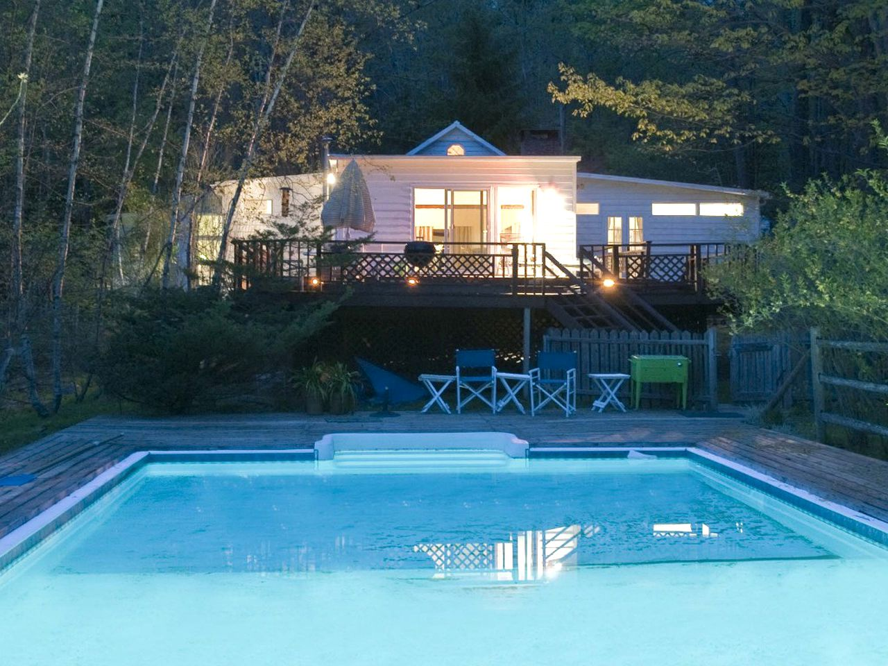Cottage pool in Woodstock, New York.