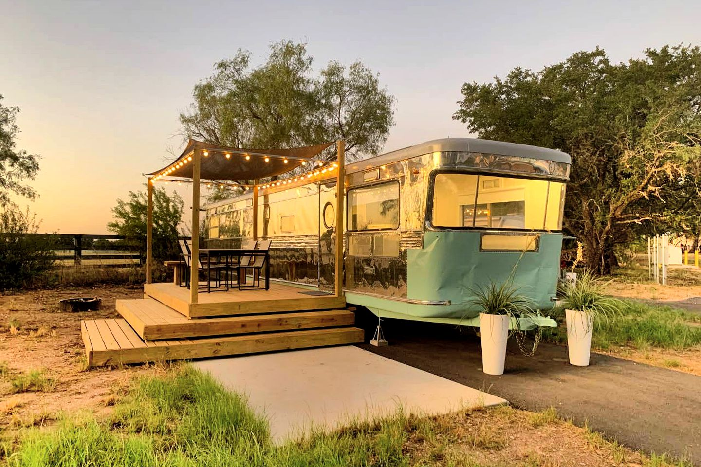 Unusual Spicewood vacation rental for luxury camping trip near Austin.