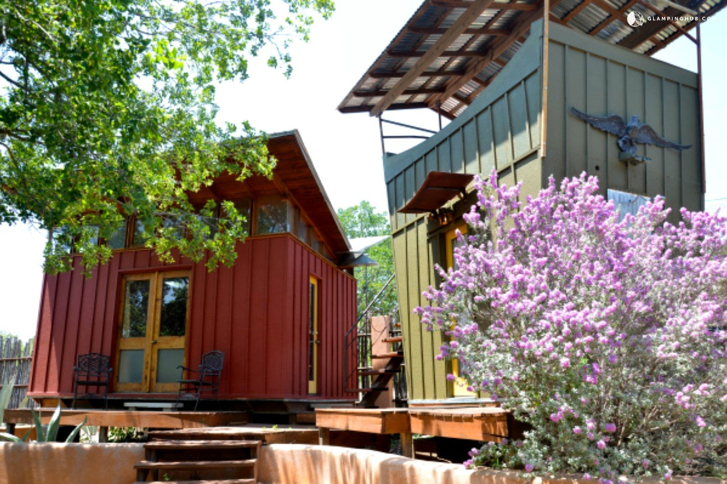 Eco cabins in texas hill country offer yoga retreats near for Texas hill country cabin rentals