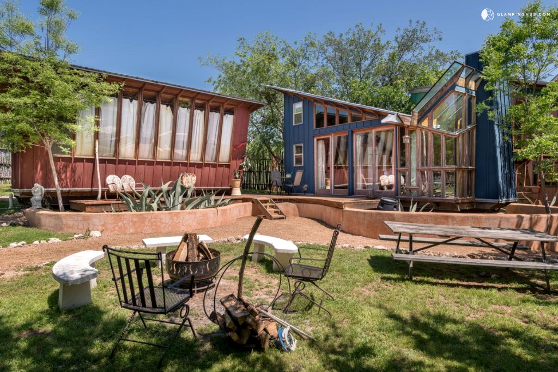 eco friendly cabin rental near austin texas