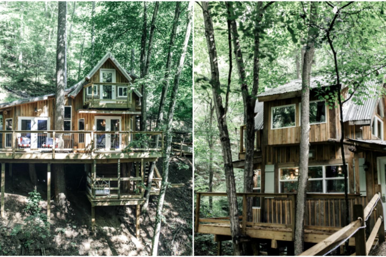 Tree House Near Asheville