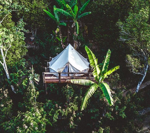 premium selection 90afa 7ee17 Elevated Glamping Tent on a Plantation near the Twin Lakes of Gobleg in  Bali, Indonesia