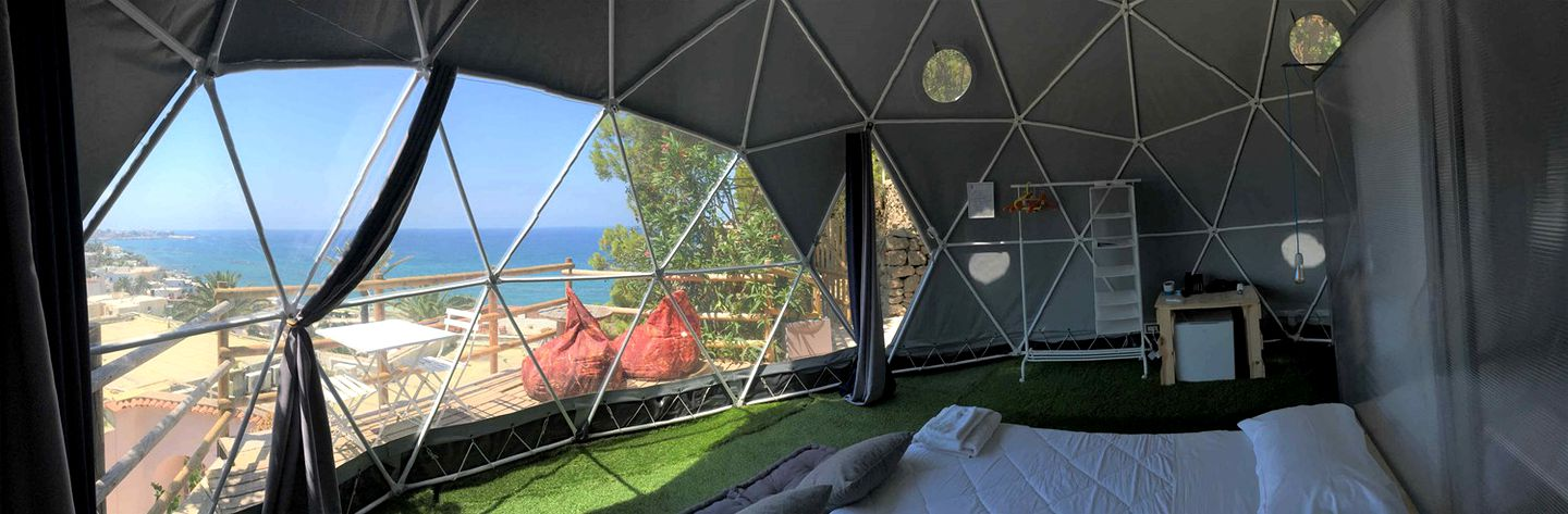 Glamping dome rental in Ischia, Italy