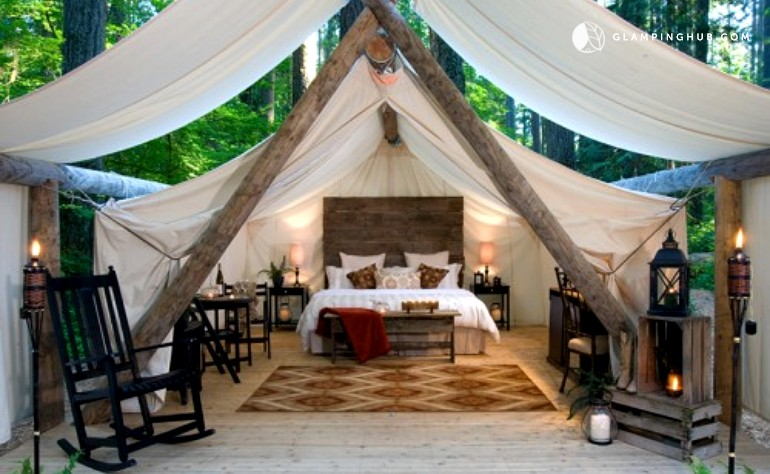 & Exclusive Luxury Tent Cabins in Olympia Washington