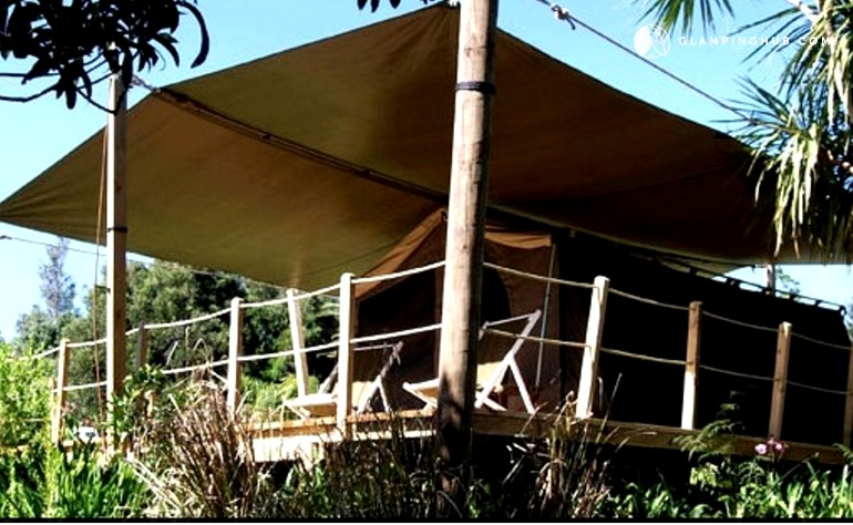 & Exclusive Safari Tents | Accommodation Garden Views | New Zealand