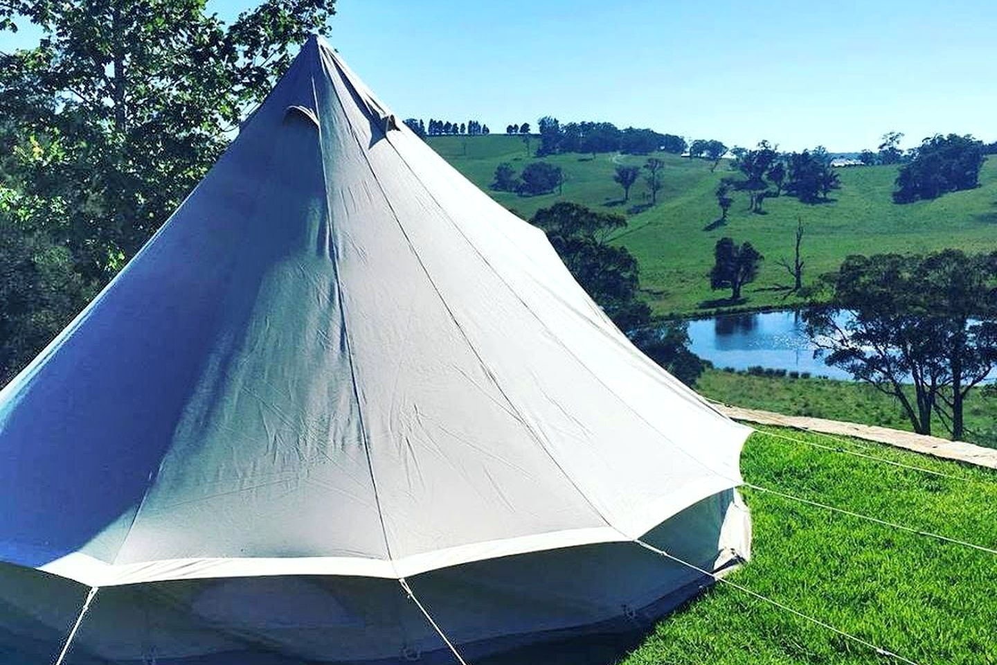 This bell tent accommodation in Exeter comes with luxury amenities and is a great weekend getaway in NSW.