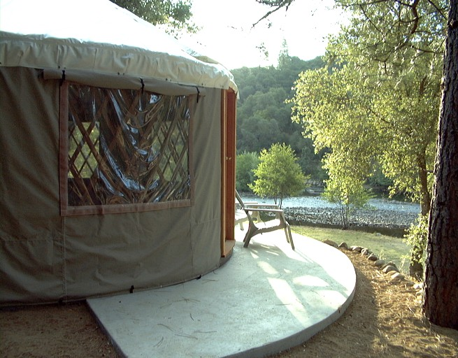 Family-Friendly Yurt Rental at Whitewater Rafting Resort in Northern  California