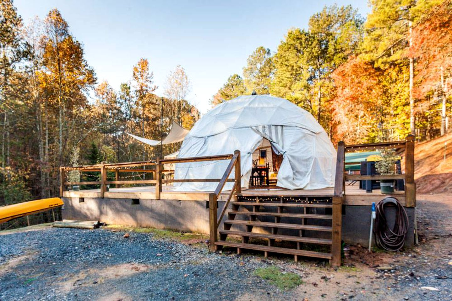 Dome tents in Ellijay, Georgia, United States