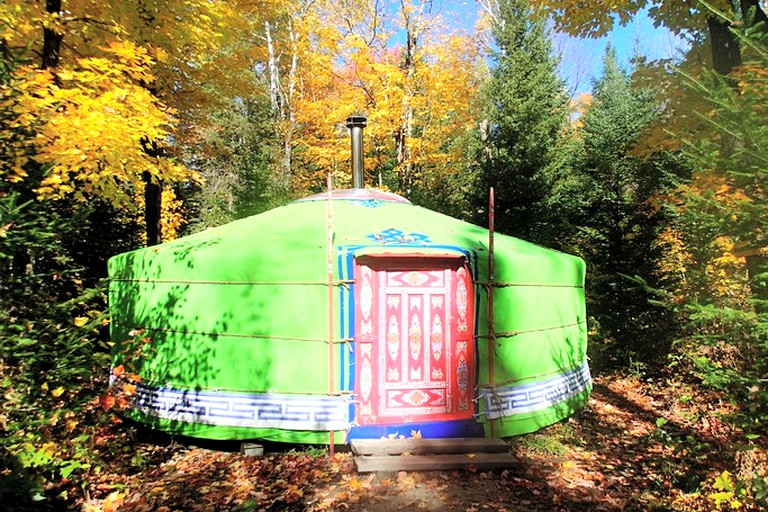 Yurt Camping Rental near Laurentian Mountains of Quebec ...