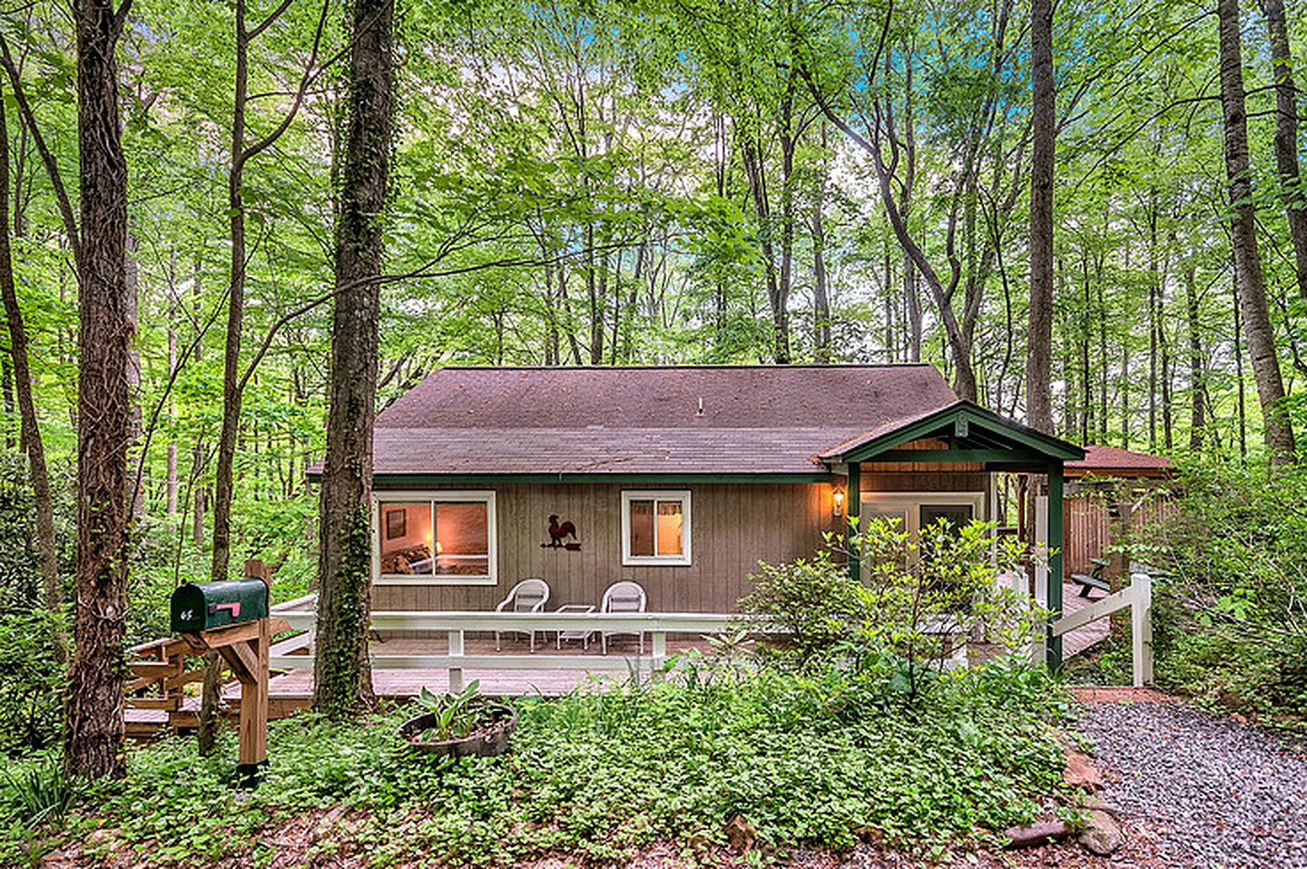 Cabin rental in the forest near Cherokee, North Carolina.