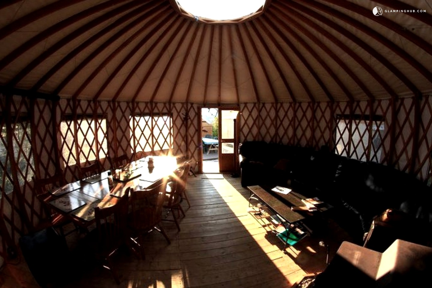 Photo of Fly Fishing Glamping Camp with a Shared Kitchen Yurt in British Columbia
