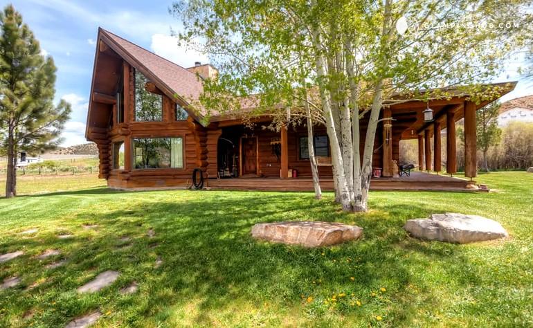 Log cabin rental near salt lake city for Utah log cabins