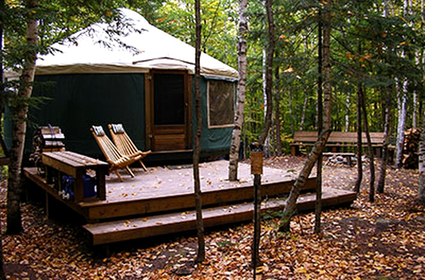 Yurts (Brownfield, Maine, United States)