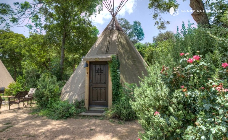 Fully-Furnished Tipi Rentals in New Braunfels, Texas