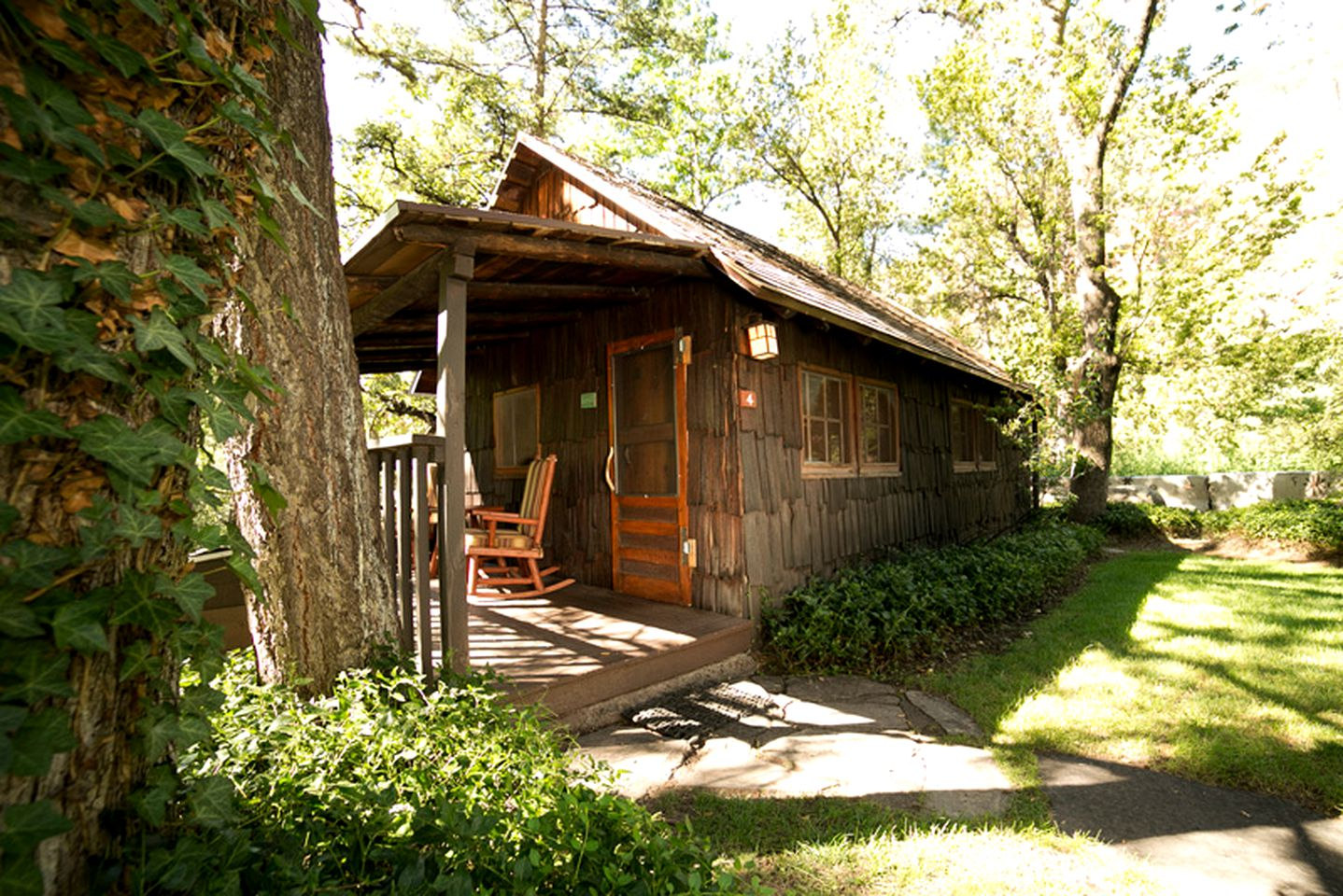 Rustic cabin rental in a Sedona bed & breakfast.