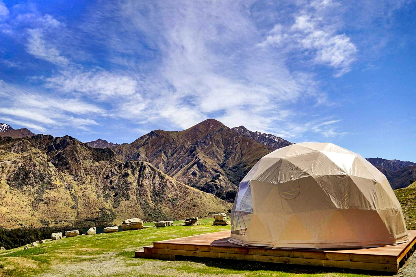 This awesome accommodation near Queenstown is perfect for glamping, South Island.