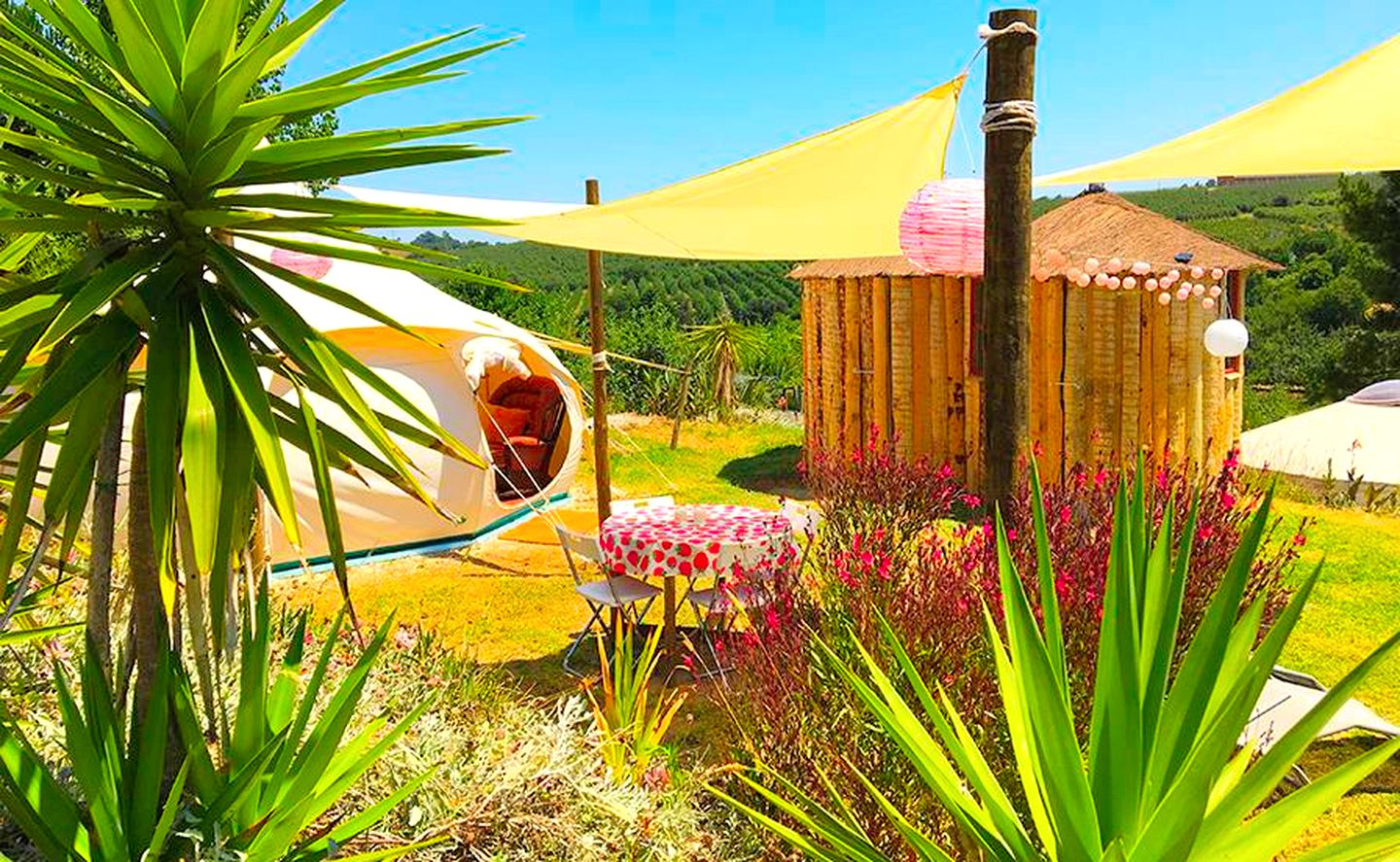 Bell Tent for a Glamping Getaway on the Silver Coast (Vimeiro, Lisbon District, Portugal)