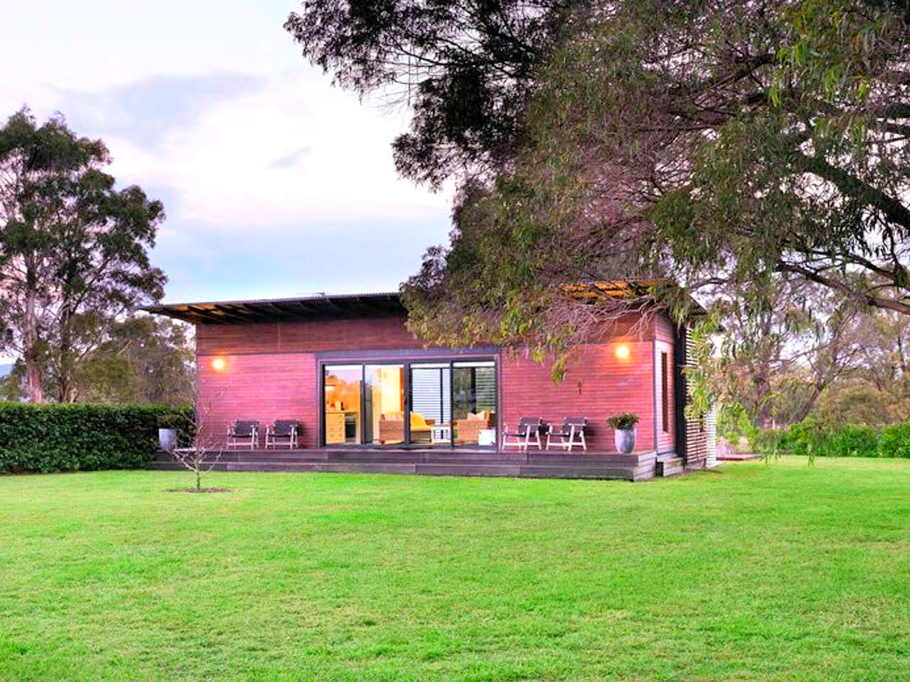 This charming accommodation is located on a farm stay in NSW, so guests can relax and also experience farm-life