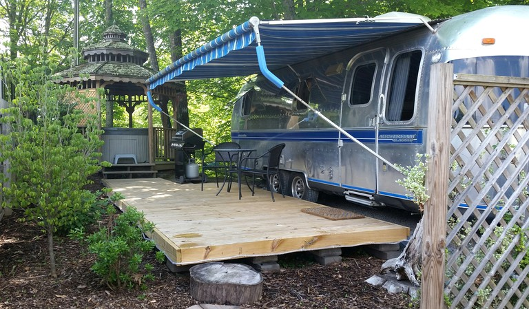 Romantic Airstream Rental with a Private Hot Tub near Lewisburg, West  Virginia
