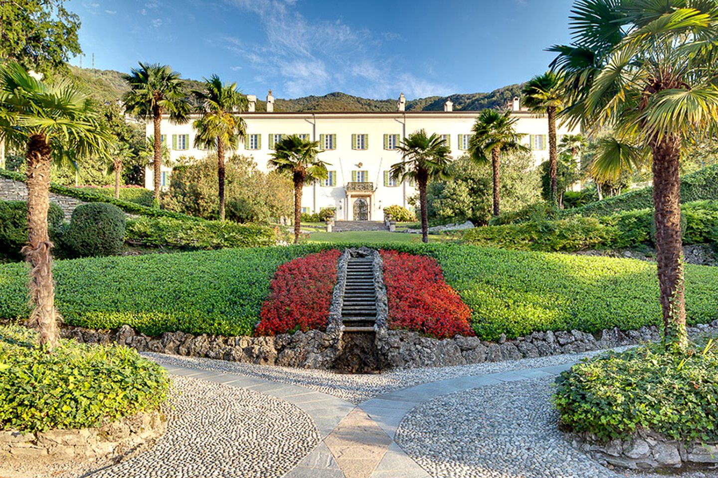Garden With Swimming Pool luxurious villa rental on lake como with a private dock, gardens, and a  swimming pool in como, italy
