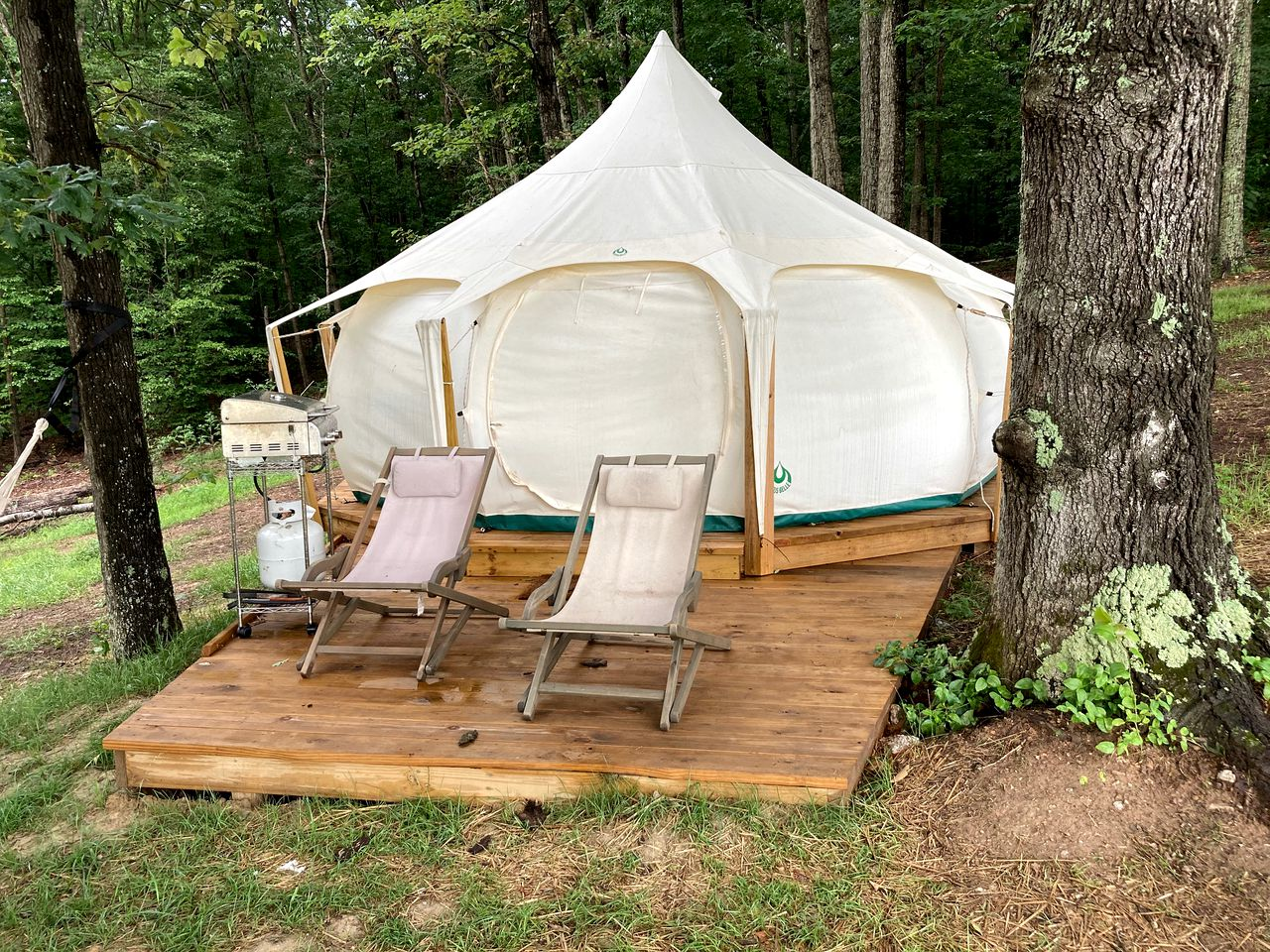 This gorgeous Virginia glamping retreat is the ideal nature getaway.