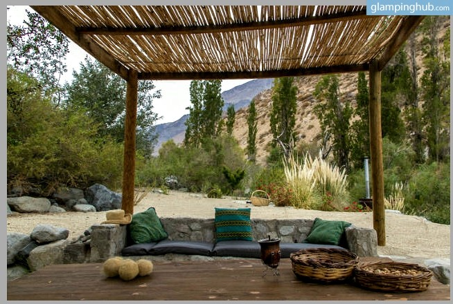 Secluded Lodges on a Beautiful Riverbed in the Andes Mountains, Chile