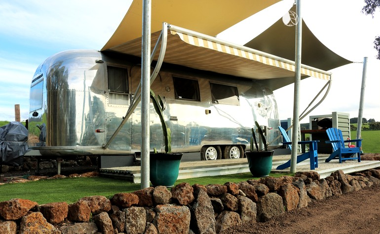 Intimate Retro1966 Airstream Rental for Couples near Melbourne